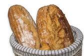Fresh bread in the basket — Stock Photo