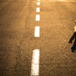 Child on the road — Stock Photo