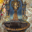 Decorative washbasin with lion and rose — Stock Photo #39727737