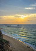 Morning sea landscape in Israel, Ashkelon — Stock Photo