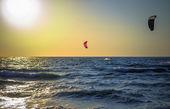 Photo Sea surfer far — Stock Photo