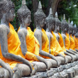 Buddha statue in Wat Yai Chai Mongkol- Ayuttaya of Thailand — Stock Photo