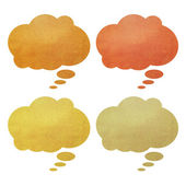 Talk tag recycled paper on white background — Stock Photo