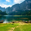 Cheo Lan lake. Khao Sok National Park. Thailand. — Stock Photo