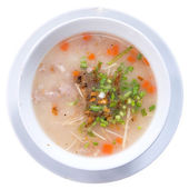 Traditional thai porridge rice gruel in bowl, con gee — Stock Photo