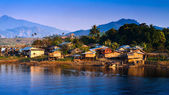 Thailand Floating Town in Sangklaburi Kanchanaburi Thailand — Stock Photo