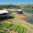 Stock Photo: Floating Town in Sangklaburi Kanchanaburi Thailand