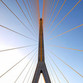 Mega sling Bridge,Rama 8, in bangkok Thailand — Stock Photo
