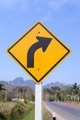 Right turn sign — Stock Photo