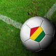 Foto Stock: BoliviFlag Pattern of soccer ball in green grass