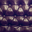 Vintage leather texture of sofa closeup shot — Stock Photo