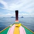 Head long tail fisherman boat in Andaman sea — Stock Photo