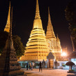 Wat Pho, Buddhist temple at night , Bangkok, Thailand.  — Stock Photo