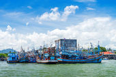 Group of Fishing ship — Stock Photo
