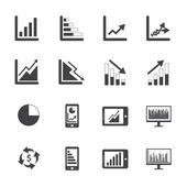 Business Graph icons — Stock Vector