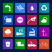 Collection of Eco icons set — Stock Vector