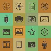 Icone cellulare stile retrò — Vettoriale Stock
