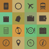 Retro style Travel Icons — Stock Vector