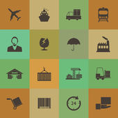 Retro style Logistics icons — Stock Vector