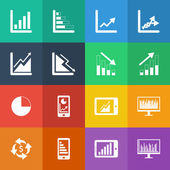 Business Graph icon set. — Stock Vector