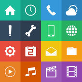 Mobile phone icons — Stock Vector