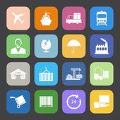 Logistics ikoner set. — Stockvektor