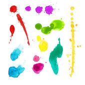 Vibrant watercolor stains — Stock Vector
