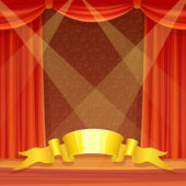 Theater stage — Stock Vector