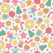 Cookies seamless pattern — 图库矢量图片