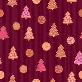 Cookies seamless pattern — Stock Vector