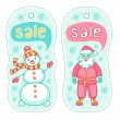 Christmas sale badges — Stock Vector