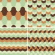 Set of abstract retro geometric pattern — Stock Photo