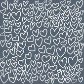 Abstrait modèle sans couture avec main dessin coeurs doodle — Vecteur