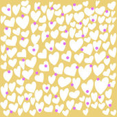 Abstract seamless pattern with hand drawing doodle hearts — Stock Vector