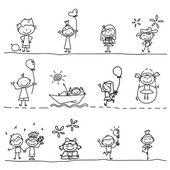 Main, dessin d'enfants heureux de dessin animé — Vecteur