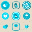 Mother's Day Badges and Labels — Imagens vectoriais em stock