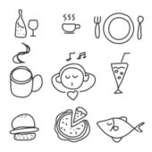 Food drink icon set — Stock Vector