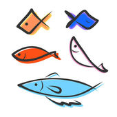 Icon fish — Stock Vector