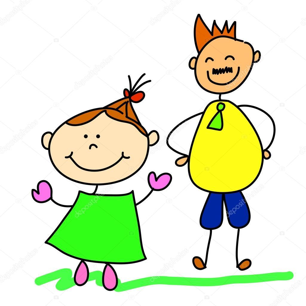 Padre e hija — Vector de stock #31146843 — Depositphotos