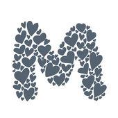M письмо — Cтоковый вектор