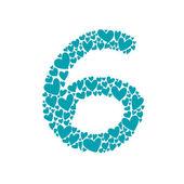 Número seis — Vetorial Stock