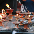 Candles at Kathmandu Dubar Square, Nepal — Stockfoto #42639375