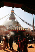 Manhã no nepal bodnath — Foto Stock