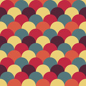 Abstracte retro geometrische patroon — Stockvector