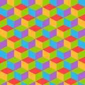 Retro soyut geometrik desen — Stok Vektör