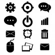 Hand drawing business icons — Stock Vector