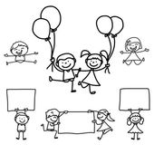 Cartoon happy kids — Vettoriale Stock