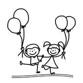 Cartoon happy kids — Stock Vector