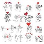 Cartoon happy wedding — Stock Vector #47607423