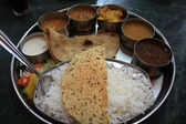 Indian food thali — Stock Photo